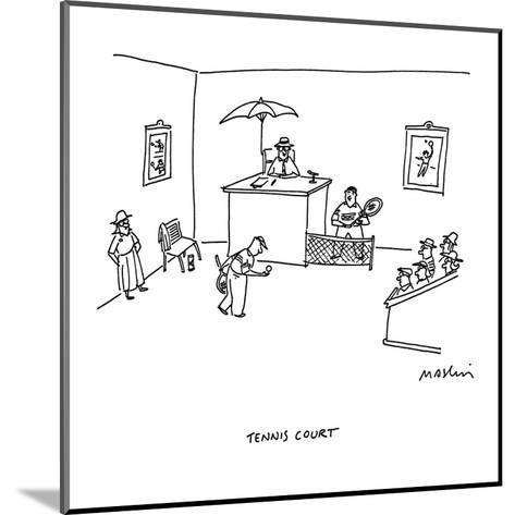 Tennis Court - Cartoon-Michael Maslin-Mounted Premium Giclee Print