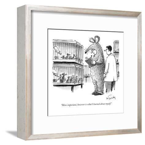"""""""More important, however, is what I learned about myself."""" - New Yorker Cartoon-Mike Twohy-Framed Art Print"""