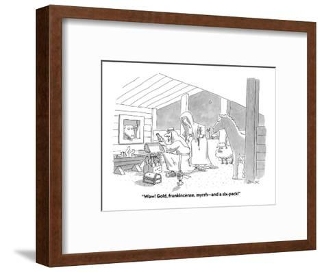 """Wow! Gold, frankincense, myrrh?and a six-pack!"" - Cartoon-Jack Ziegler-Framed Art Print"