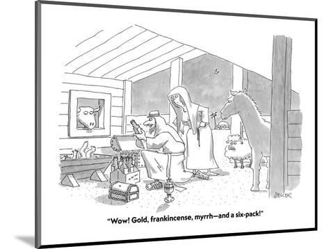 """Wow! Gold, frankincense, myrrh?and a six-pack!"" - Cartoon-Jack Ziegler-Mounted Premium Giclee Print"