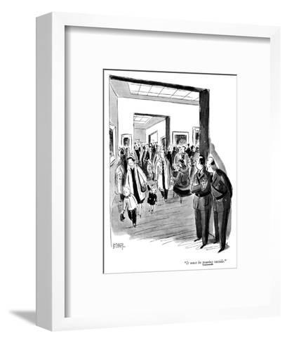 """It must be pouring outside."" - New Yorker Cartoon-Barney Tobey-Framed Art Print"