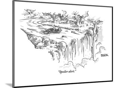 """Spoiler alert."" - New Yorker Cartoon-Shannon Wheeler-Mounted Premium Giclee Print"