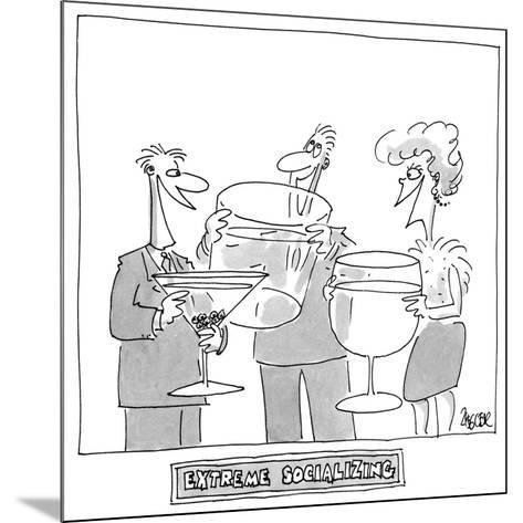 """Extreme Socializing"" - Cartoon-Jack Ziegler-Mounted Premium Giclee Print"