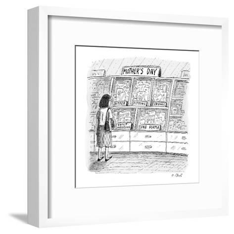 Mother's day cards  - New Yorker Cartoon-Roz Chast-Framed Art Print
