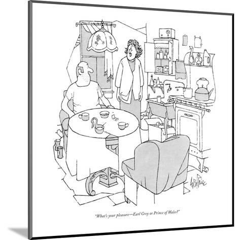 """What's your pleasure?Earl Grey or Prince of Wales?"" - New Yorker Cartoon-George Price-Mounted Premium Giclee Print"