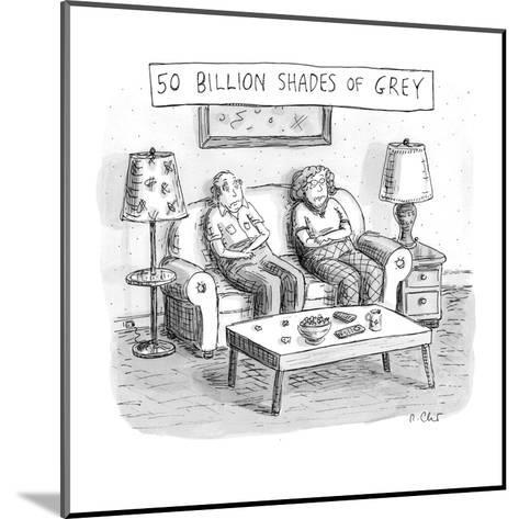 Two elderly individuals sitting on couch in living room. - New Yorker Cartoon-Roz Chast-Mounted Premium Giclee Print