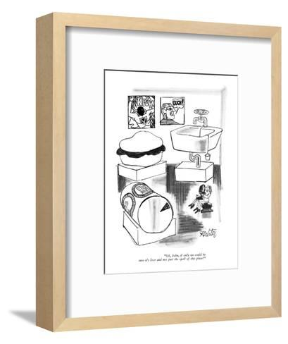 """Oh, John, if only we could be sure it's love and not just the spell of th?"" - New Yorker Cartoon-Mischa Richter-Framed Art Print"