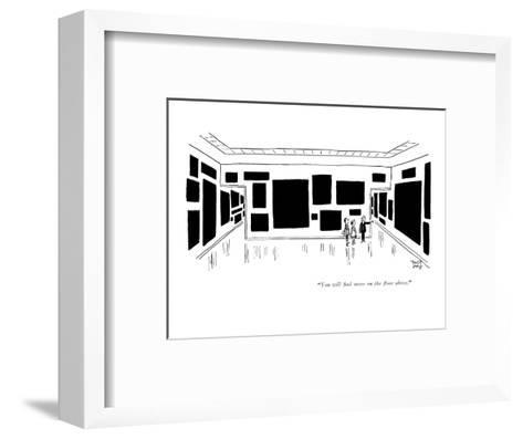"""""""You will find more on the floor above."""" - New Yorker Cartoon-Robert J. Day-Framed Art Print"""