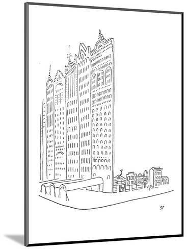 Large impressive facades stand in front of smaller homes. - New Yorker Cartoon-Saul Steinberg-Mounted Premium Giclee Print