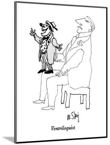 Pale man with vividly-drawn ventriloquist's dummy on his lap. - New Yorker Cartoon-William Steig-Mounted Premium Giclee Print