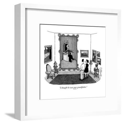 """""""I thought he was your grandfather."""" - New Yorker Cartoon-J.C. Duffy-Framed Art Print"""