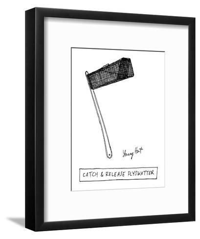 Catch & Release Flyswatter - New Yorker Cartoon-Larry Hat-Framed Art Print