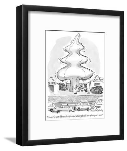 """""""Doesn't it seem like we just finished letting the air out of last year's ?"""" - New Yorker Cartoon-Mike Twohy-Framed Art Print"""