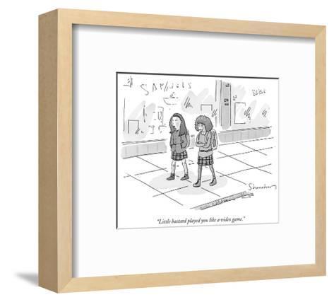 """Little bastard played you like a video game."" - New Yorker Cartoon-Danny Shanahan-Framed Art Print"