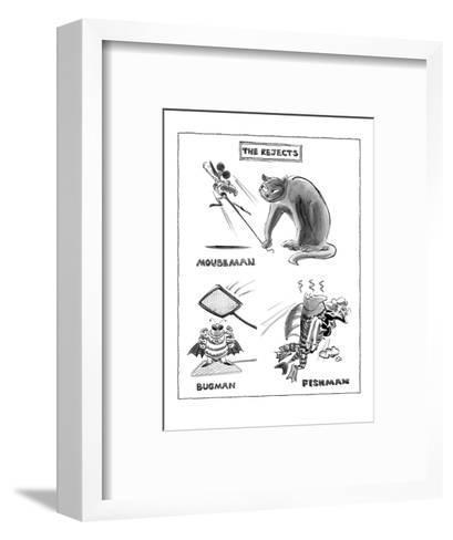 The Rejects - New Yorker Cartoon-Lee Lorenz-Framed Art Print