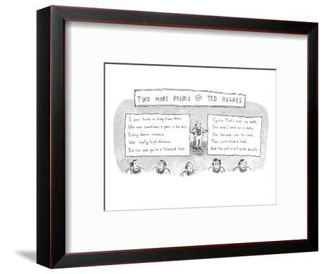 Two More Poems from Ted Hughes - New Yorker Cartoon Premium Giclee ...