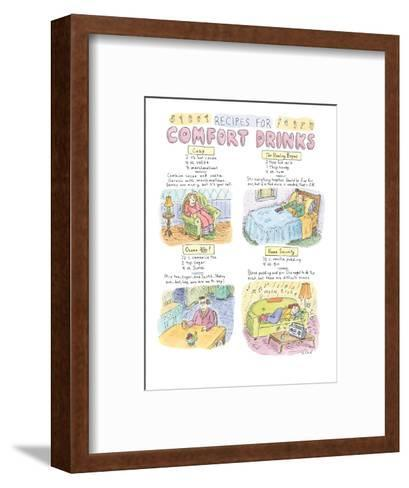 Recipes For Comfort Drinks - New Yorker Cartoon-Roz Chast-Framed Art Print