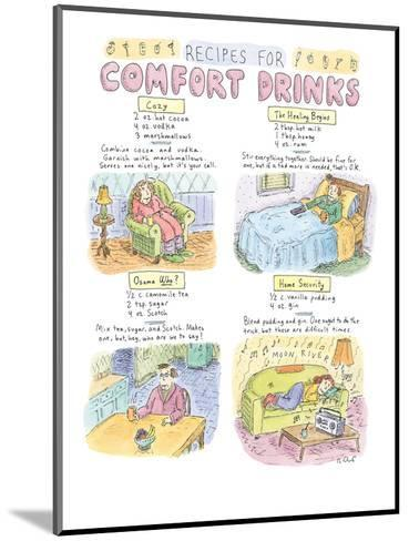 Recipes For Comfort Drinks - New Yorker Cartoon-Roz Chast-Mounted Premium Giclee Print