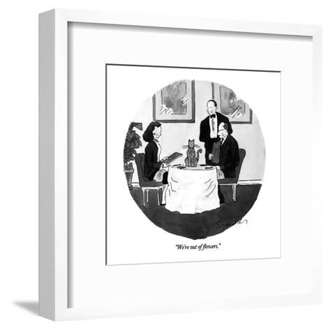 """We're out of flowers."" - New Yorker Cartoon-Danny Shanahan-Framed Art Print"