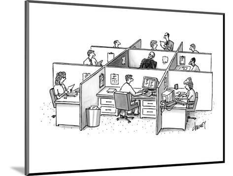 Skeleton is trapped in the center, doorless square amid nine office cubicl? - New Yorker Cartoon-Tom Cheney-Mounted Premium Giclee Print