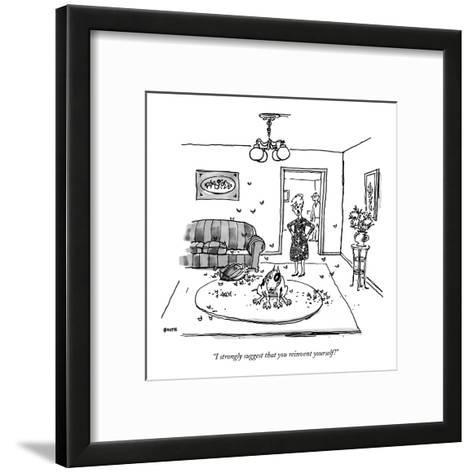 """""""I strongly suggest that you reinvent yourself!"""" - New Yorker Cartoon-George Booth-Framed Art Print"""
