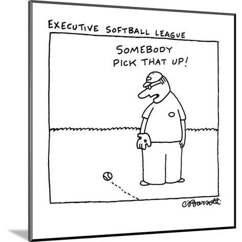 Executive Softball League - New Yorker Cartoon-Charles Barsotti-Mounted Premium Giclee Print