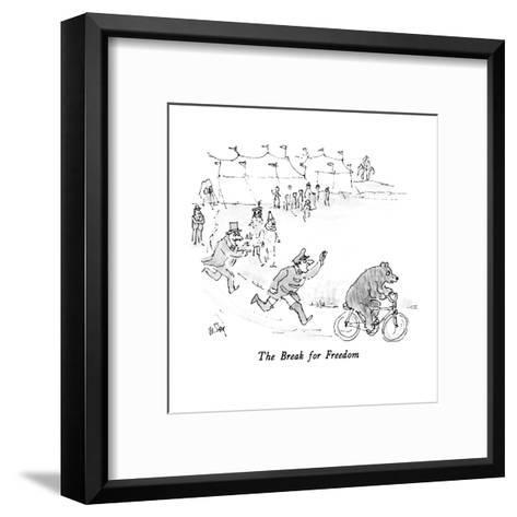 The Break for Freedom - New Yorker Cartoon-William Steig-Framed Art Print