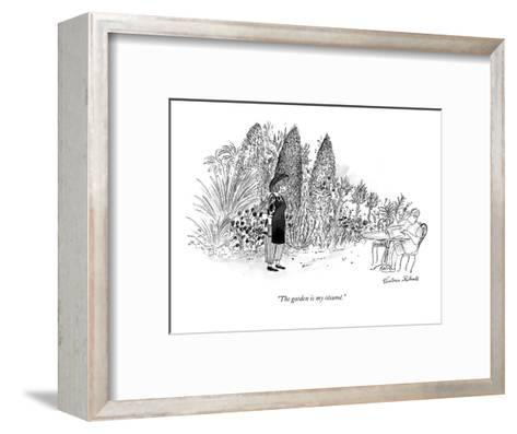 """The garden is my r?sum?."" - New Yorker Cartoon-Victoria Roberts-Framed Art Print"