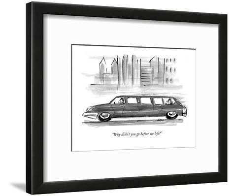 """Why didn't you go before we left?"" - New Yorker Cartoon-Lee Lorenz-Framed Art Print"