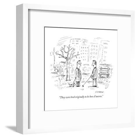 """""""They were bred originally to be hors d'?uvres."""" - New Yorker Cartoon-David Sipress-Framed Art Print"""