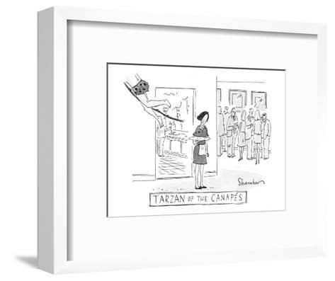 """Tarzan of the Canap?s"" - New Yorker Cartoon-Danny Shanahan-Framed Art Print"