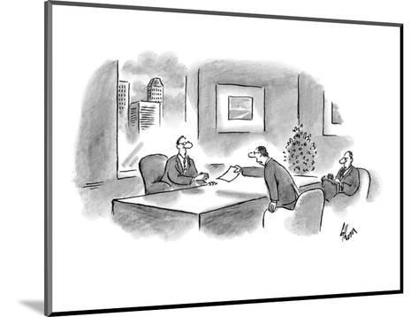 """I've arranged our options according to their legality."" - New Yorker Cartoon-Frank Cotham-Mounted Premium Giclee Print"
