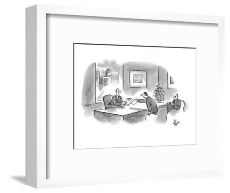 """I've arranged our options according to their legality."" - New Yorker Cartoon-Frank Cotham-Framed Art Print"