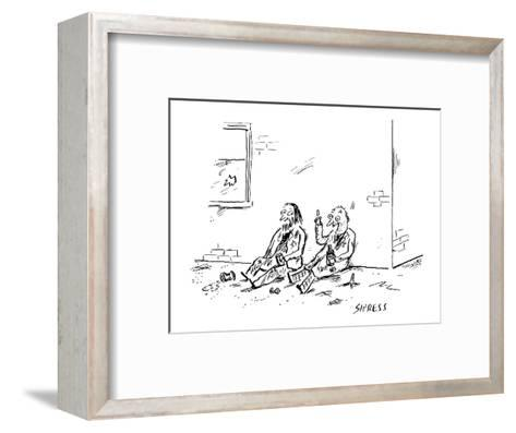 """Then, I thought, Hey, hold on a minute?maybe failure is an option."" - New Yorker Cartoon-David Sipress-Framed Art Print"