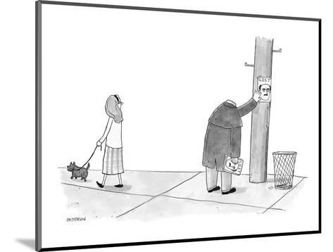A headless man hangs posters for his own lost head. - New Yorker Cartoon-Jason Patterson-Mounted Premium Giclee Print