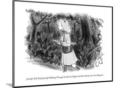 Jennifer Felt Perfectly Safe Walking Through the Park at Night with Her Ha? - New Yorker Cartoon-Carolita Johnson-Mounted Premium Giclee Print