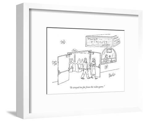 """""""It strayed too far from the video game."""" - New Yorker Cartoon-Eric Lewis-Framed Art Print"""