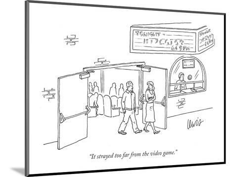 """""""It strayed too far from the video game."""" - New Yorker Cartoon-Eric Lewis-Mounted Premium Giclee Print"""