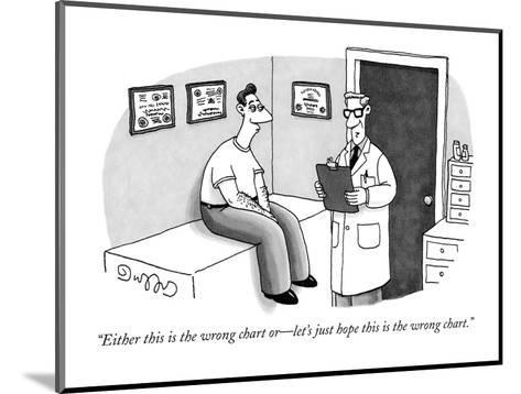 """""""Either this is the wrong chart or?let's just hope this is the wrong chart?-J.C. Duffy-Mounted Premium Giclee Print"""