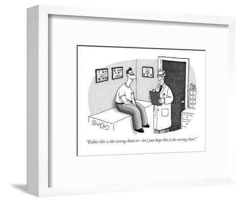 """""""Either this is the wrong chart or?let's just hope this is the wrong chart?-J.C. Duffy-Framed Art Print"""