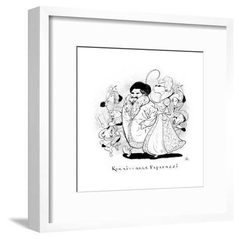 Renaissance Paparazzi - New Yorker Cartoon-Steve Brodner-Framed Art Print