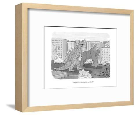 """""""And when the time comes the company will put you to sleep at its own expe?"""" - New Yorker Cartoon-Charles Barsotti-Framed Art Print"""