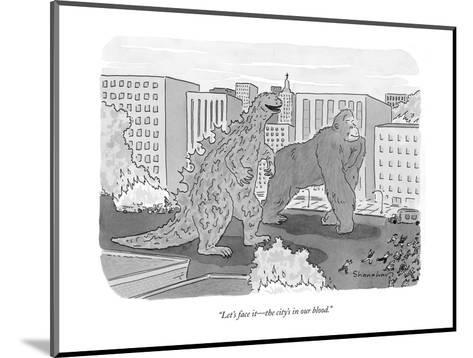 """""""And when the time comes the company will put you to sleep at its own expe?"""" - New Yorker Cartoon-Charles Barsotti-Mounted Premium Giclee Print"""