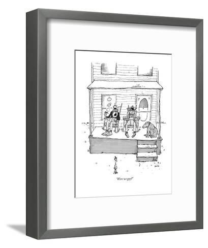 """Were we gay?"" - New Yorker Cartoon-George Booth-Framed Art Print"