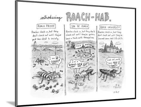 Introducing Roach-Hab - New Yorker Cartoon-Roz Chast-Mounted Premium Giclee Print