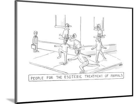 esoteric treatment - New Yorker Cartoon-Michael Rae-Grant-Mounted Premium Giclee Print