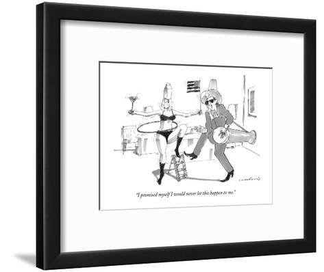 """I promised myself I would never let this happen to me."" - New Yorker Cartoon-Michael Crawford-Framed Art Print"