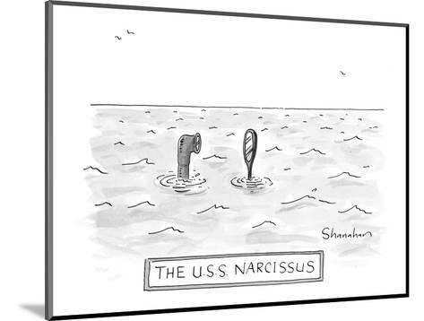 """The U.S.S. Narcissus"" - New Yorker Cartoon-Danny Shanahan-Mounted Premium Giclee Print"