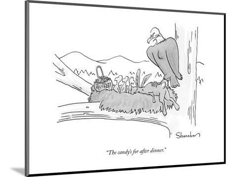 """""""The candy's for after dinner."""" - New Yorker Cartoon-Danny Shanahan-Mounted Premium Giclee Print"""