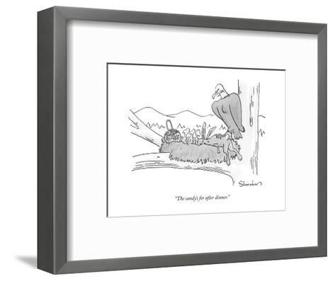"""""""The candy's for after dinner."""" - New Yorker Cartoon-Danny Shanahan-Framed Art Print"""
